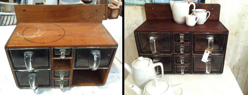 Alte Küchen-Vorratsbehälter neu aufbereitet